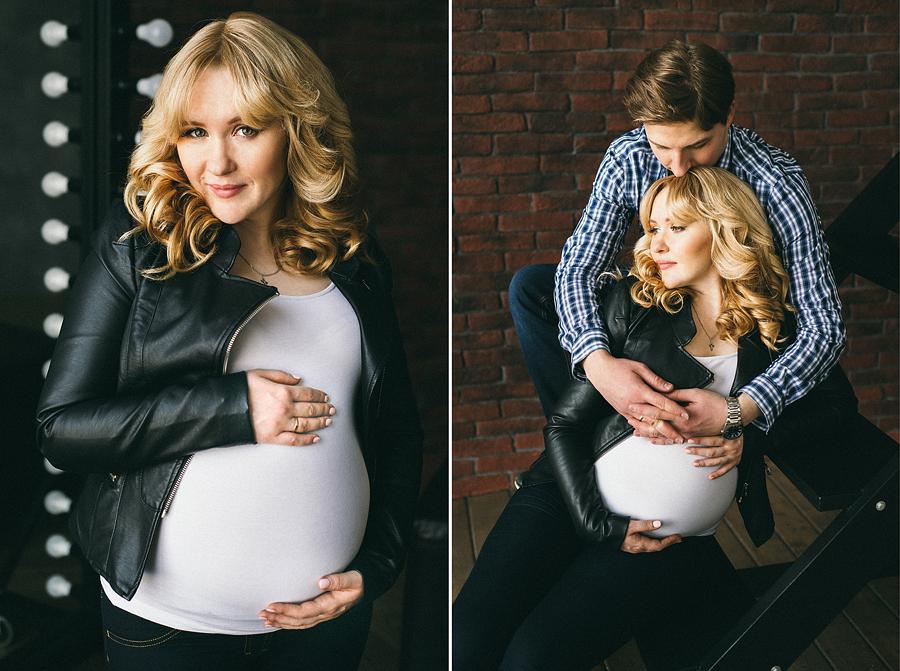 идеи для беременной фотосессии в студии