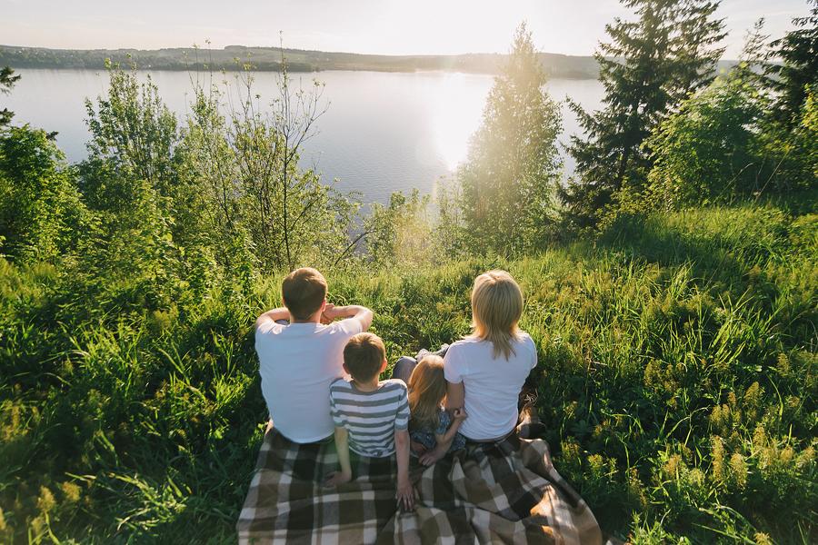 идея для семейной фотосъемки