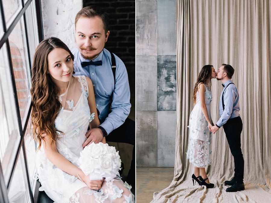 идеи для свадебной фотосъёмки в студии