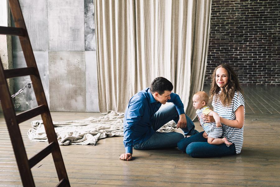 семейная фотосессия лофт
