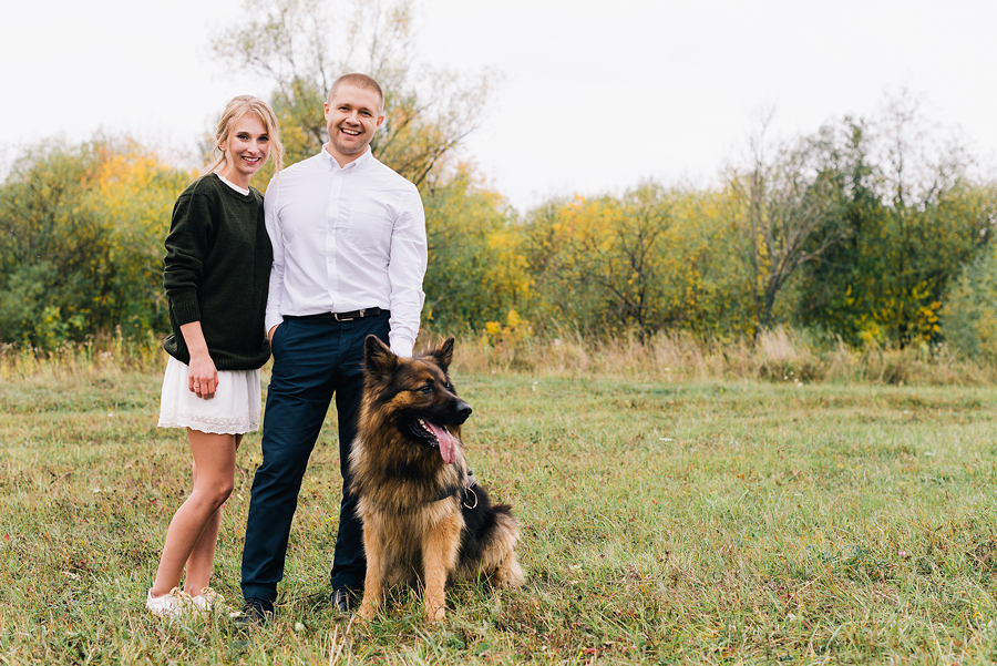 свадебная фотосессия с собакой