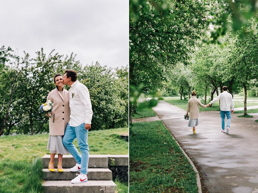 свадьба в пальто