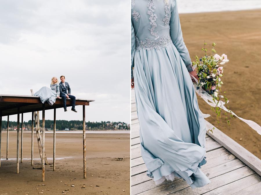 Свадебная фотосессия на пирсе